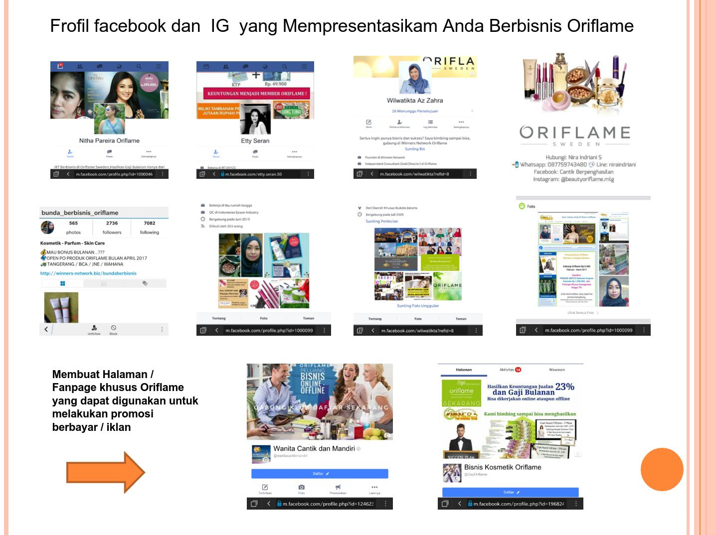 Tips Dan Cara Promosi Oriflame Online Di Facebbok