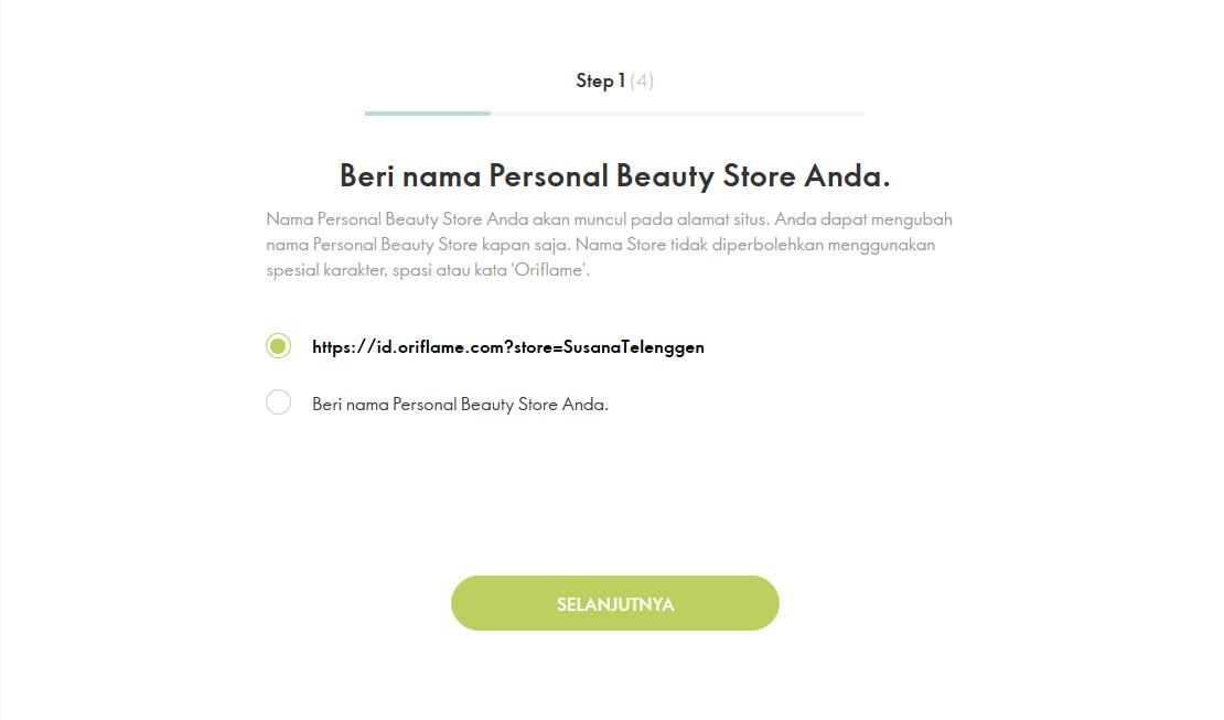 Cara Membuat Personal Beauty Store Oriflame - Bisnis ...